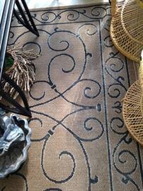 5 feet x 7 feet sisal rug