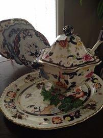 Mason's china platter & tureen