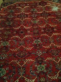 Impressive 9 feet x 11 feet colorful rug