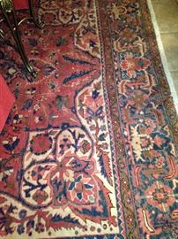 Impressive 8 feet 9 inches x 12 feet 6 inches antique rug