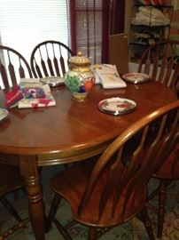 Oval table with 6 chairs