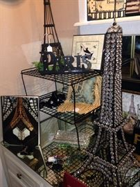 Fun Parisian decor great for a bedroom or vanity