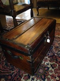 Handsome small antique trunk