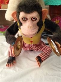 Vintage Jolly Chimp with Cymbals
