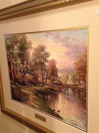 """Hometown Lake"" by Thomas Kinkade (Library Edition)"