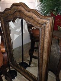Good-looking brown woven mirror