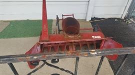 Plow attachment with mower