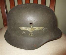 German helmet w/ Nazi emblem