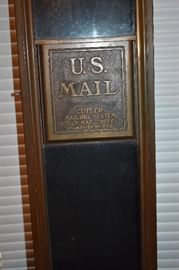 Antique U.S. Mail Letter Box made by Cutler Mailing System Company of Rochester, N.Y.