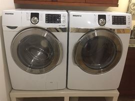 SAMSUNG steam washer/dryer set