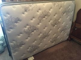 New full size mattress, boxsprings and wooden frame