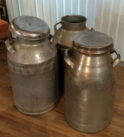Large Galvanized Jugs