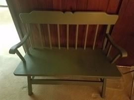 PAINTED VINTAGE BENCH