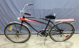 1950's Western Flyer Cosmic Flyer Bike Bicycle with Headlights and Key