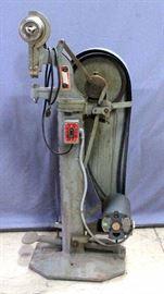 "Stimpson 489 Electric Power Eyelet/Grommet Press, 48""H"