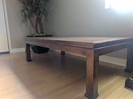 """Walnut Coffee Table •Walnut natural wood coffee table. •Measures 61"""" L by 36"""" W by 18"""" H"""