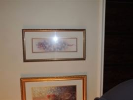 Quality prints, framed with good matting