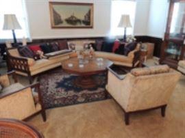 Sectional Sofa,  a nice oriental rug very good shape