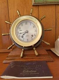 Attic Find. Chelsea Shipswheel Clock