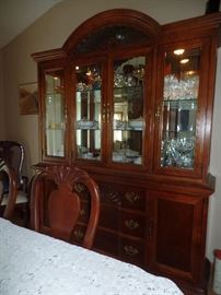 Shell front, lighted China Cabinet
