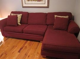 Sectional sleeper sofa / hide-a-bed.  Great for guests.