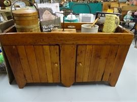 Antique pine dry sink.