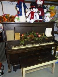 One of two piayer pianos for sale (both need restoration).