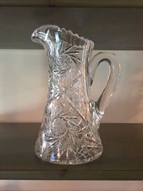 Lead Crystal Pitcher