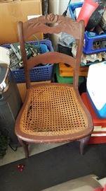 Antique wicker bottom chair