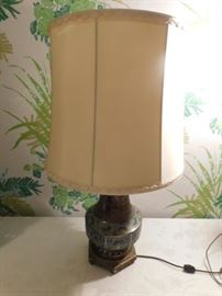 Oriental style brass lamp