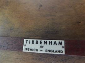 TIBBENHAM of IPSWICH-ENGLAND furniture plate