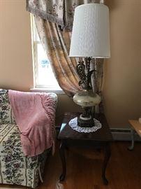 Pair vintage lamps