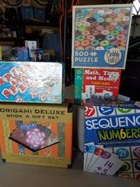 Puzzles, Origami gift set (unopened), learning games