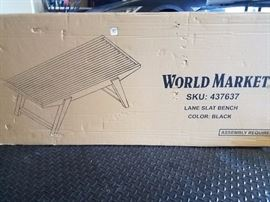 World Market Bench (New in Box)