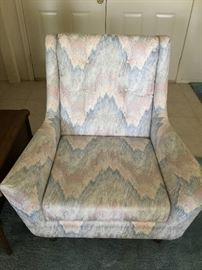 Fabric wide comfortable chair