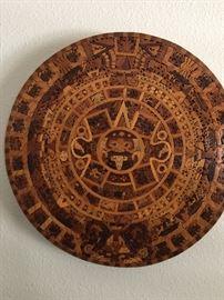 Reproduction in wood, Aztec Calendar