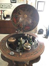 Vintage globe bar