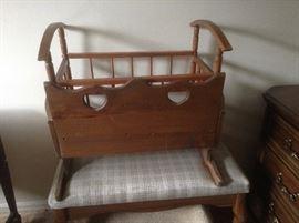 Baby Rocker Vintage Cradle