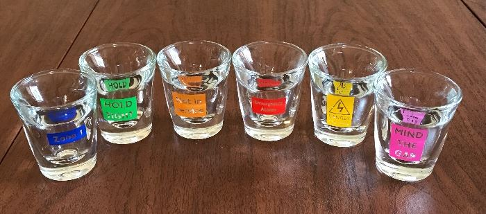 Cool, thick little shot glasses