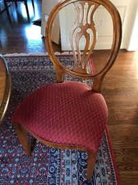 Henredon Shield Back Dining Chairs from the Natchez collection  - Two arm chairs and 6 dining chairs like this one. Perfect condition!