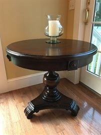 Domain - Pedestal table with one drawer