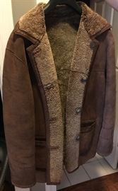 Great leather and shearling coat