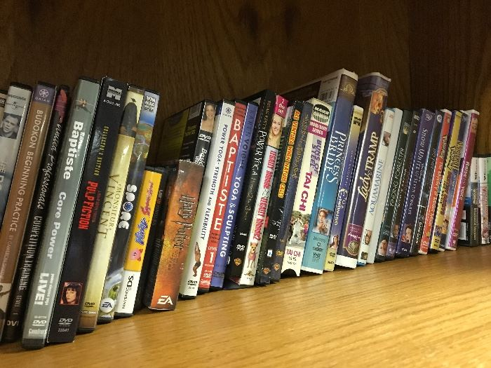 Many games, DVDs and CDs