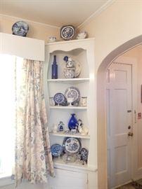 Blue & white china.