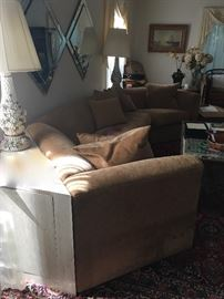 Vintage sofa & end tables