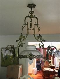 Antique bronze lighting fixture