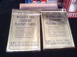 1965 Worlds Fair Souvenir Playing Cards
