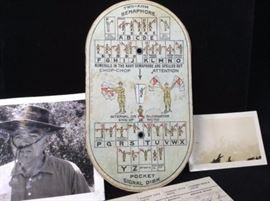 1914 Boy Scout Pocket Signal Disk