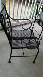 iron patio set (nice, heavy, wide chairs)