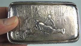 Rare Russian Silver & Enamel Cigarette Case